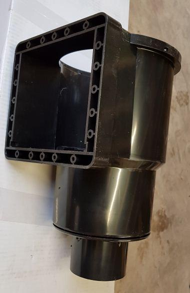 110 mm solvent soil pipe 2 x elbow 90 bends Koi pond bottom drain filter